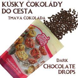 kúsky BELGICKEJ čokolády do cesta - TMAVÁ ČOKOLÁDA