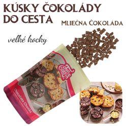 kocky čokolády do cesta - Mliečna čokoláda
