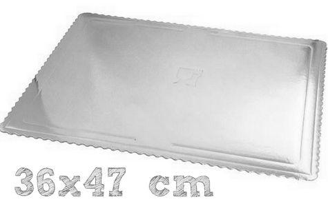 MAXI podložka 36x47 cm STRIEBORNÁ - (3 ks v bal.)