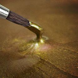 Tekutá hotová farba - svetlo zlatá