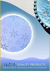 Odtlačok 30 x 15 cm - snehové vločky (FROZEN)