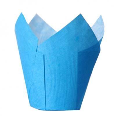 papierové košíčky TULIP - MODRÉ - 36 ks