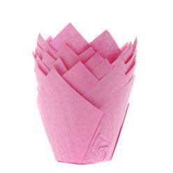 papierové košíčky TULIP - RUŽOVÉ - 36 ks