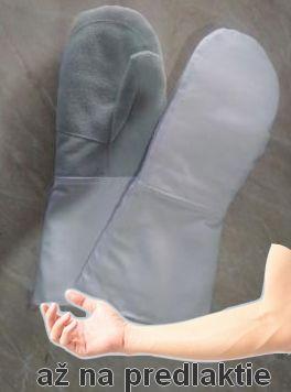 Pekárenské profesionálne rukavice - kožené, ochrana predlaktia