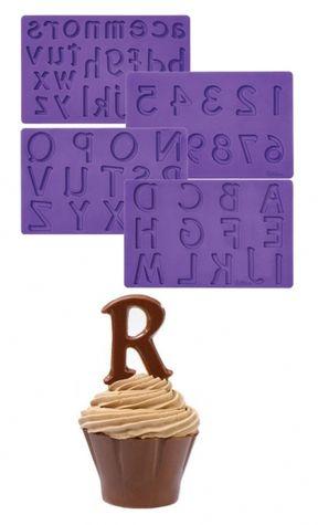 Písmená a Čísla - MAXI silikonové formičky