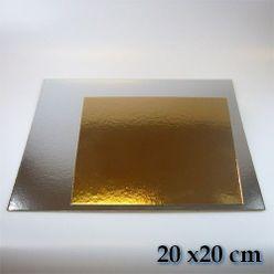 Podložky, oddeľovače - tenké - štvorec 20 x 20 cm (3 ks)