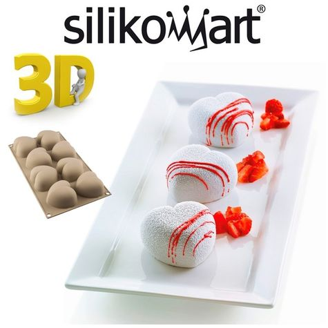 Silikomart 3D design - CUORINCO - srdiečka