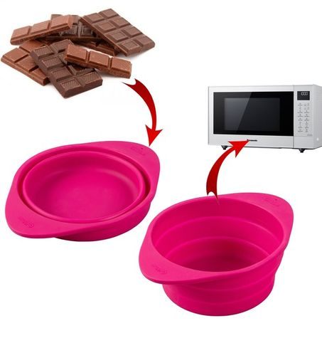 Silikonová nastaviteľná miska na topenie čokolády