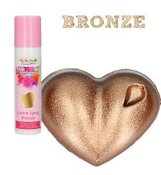 Sprejová farba Funcakes - Bronzová