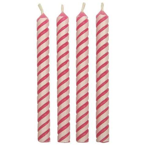 Tortové sviečky - ružové (24ks)