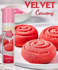 Velvet sprej 100 ml - červený