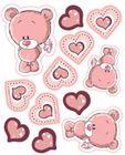 Zamilovaný medvedík - vyrezávané z jedlého papiera